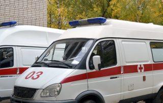 parked ambulance marked 03
